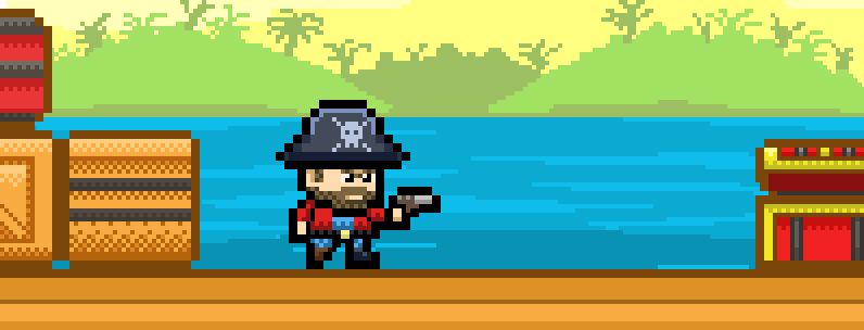 Klaus – Pirate With Pistol, Hat And Pegleg