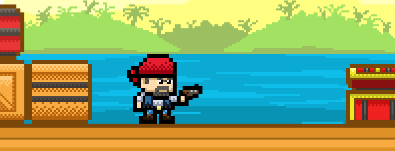 John – Pirate With Pistol And Red Headscarf