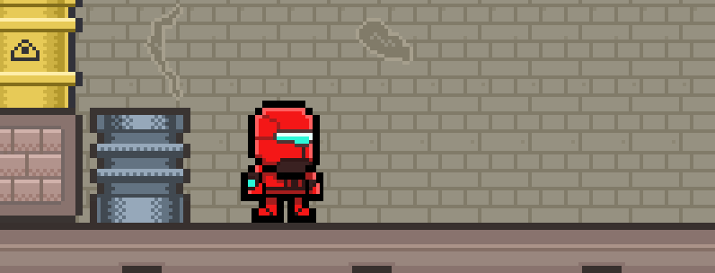 Fire Red Robot